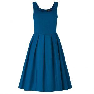 Modré retro šaty swingové (azúrová modrá)