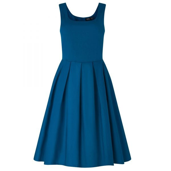 modre retro šaty