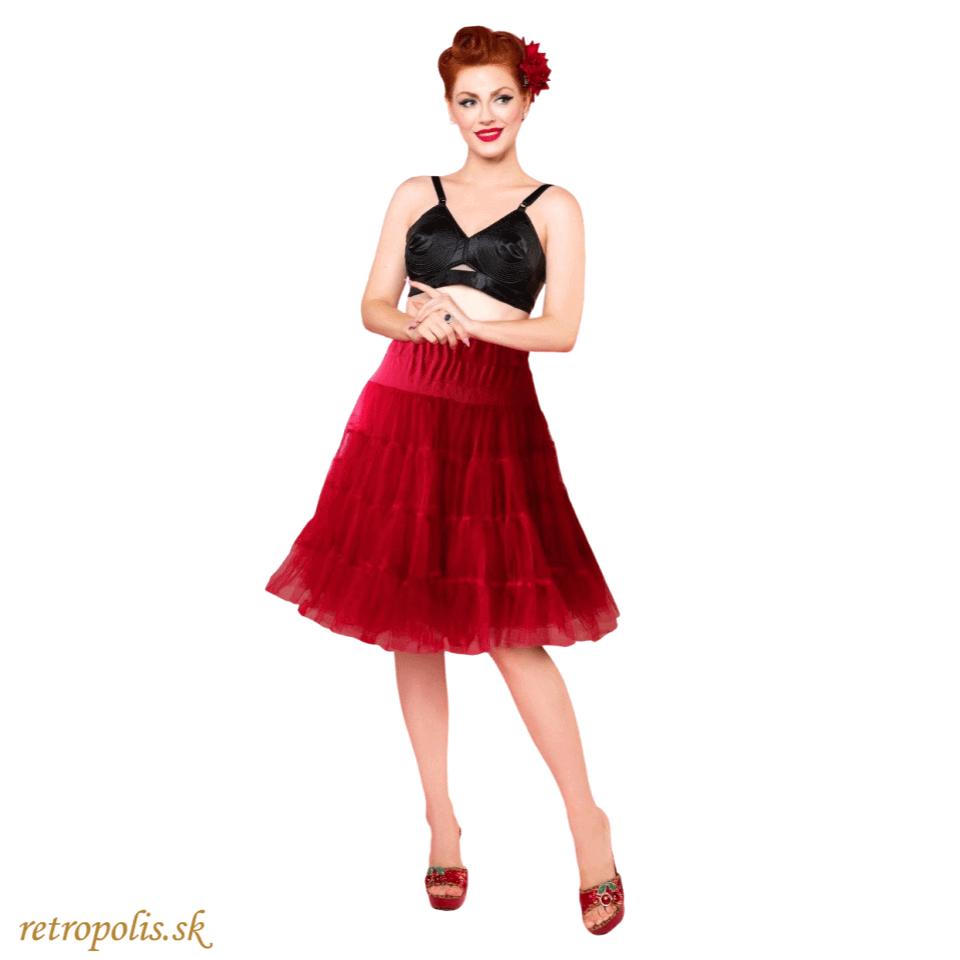 červená spodnička pod šaty