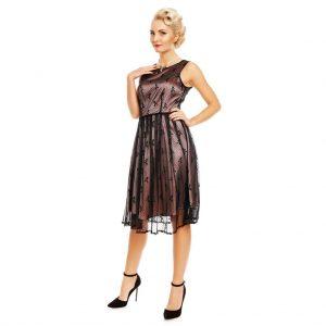 Spoločenské šaty s čipkou (kokteilové)