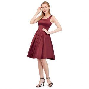Retro spoločenské šaty Burgundy