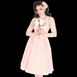 Nežné šaty v baby ružovej