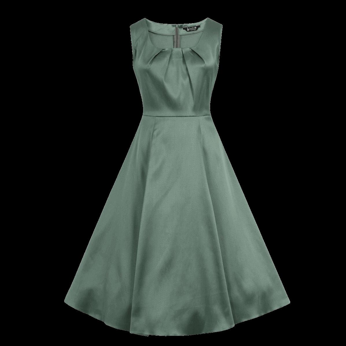 spolocenske-retro-saty-zelene