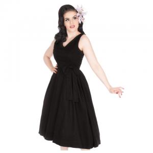 Klasické čierne vintage šaty