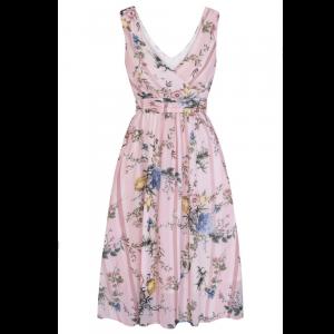 Ružové nežné letné vintage šaty