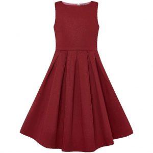 Retro detské šaty burgundy ❤️
