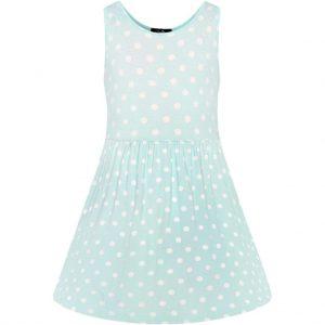 Retro detské šaty vo svetlo modrej