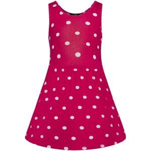 Retro detské šaty v žiarivej ružovej