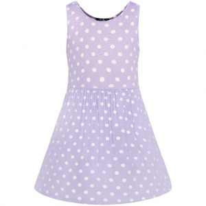 Retro detské šaty v lila farbe
