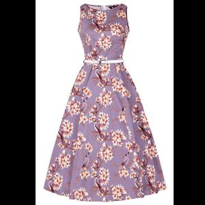 Vintage fialové elegantné šaty