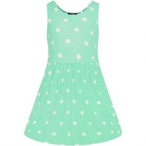Mentolové detské šaty
