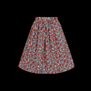 Áčková vintage sukňa s divým makom