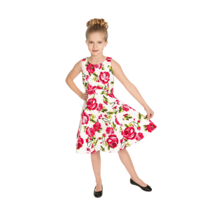 Detské letné šaty sladké ruže