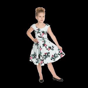 Bledomodré detské šaty malá lady