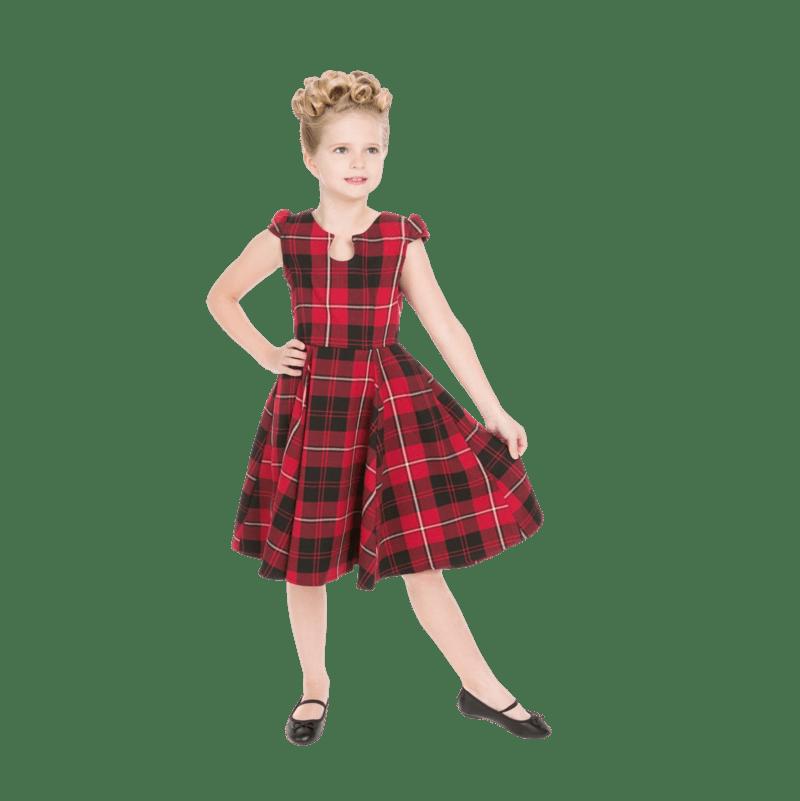 cervene-karovane-detske-saty-vintage