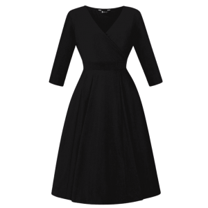 Vintage šaty na zimu čierne