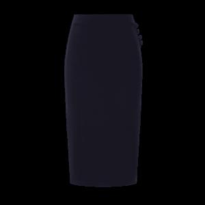 Tmavomodrá obtiahnutá vintage sukňa