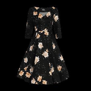 Retro šaty hviezdny prach
