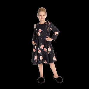 Dievčenské zimné šaty s hviezdnym prachom