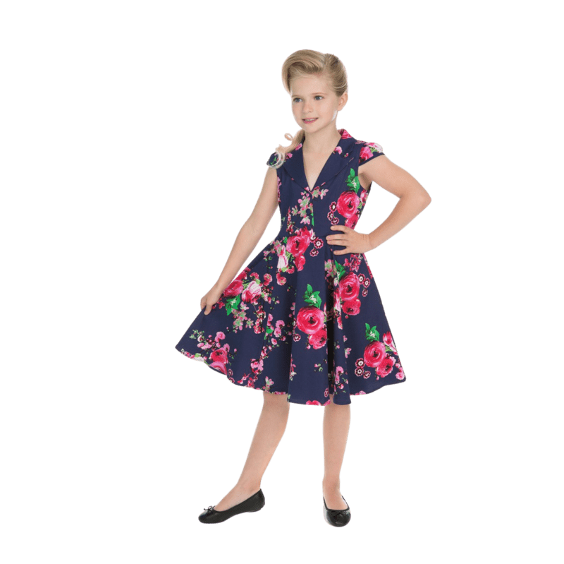 detske-retro-saty-do-skoly-modre-retro-styl