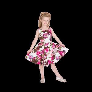 Dievčenské vintage šaty kvetinové