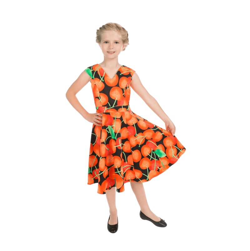 detske-retro-saty-pomarance