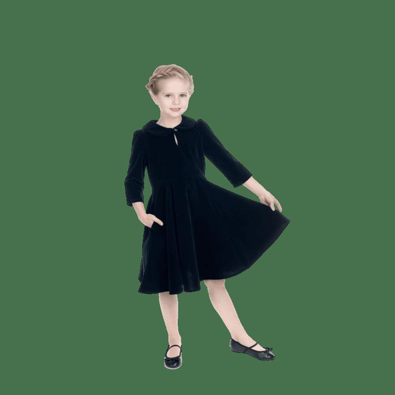 detske-zelene-retro-saty-na-vianoce-dlhy-rulav