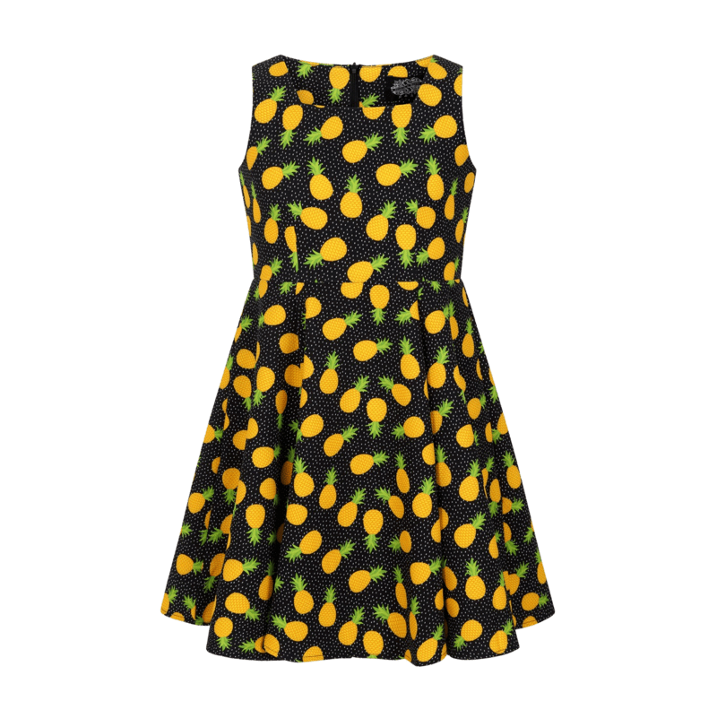 dievcenske-retro-saty-cierne-ananasyv