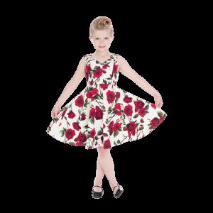 Kvetinové letné šaty z 50. rokov pre deti