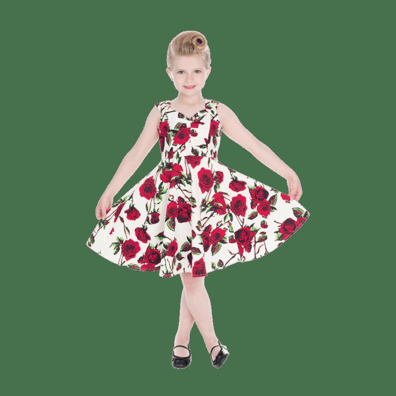 dievcenske-saty-elegantne-cervene-kvety-vintage