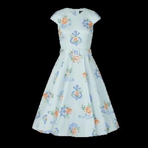 Dievčenské šaty s námorníckym motívom