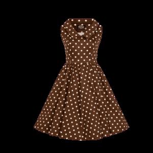 Dievčenské šaty hnedé s bodkami