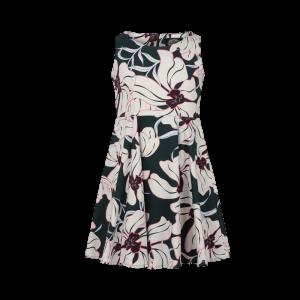 Dievčenské smaragdové šaty s kvetinkami