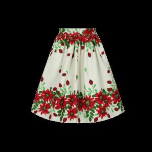 Luxusná vintage sukňa s kvetmi