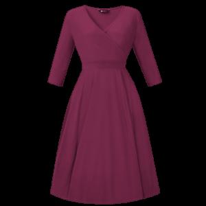 Vintage šaty na zimu amarant