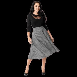 Unikátna retro sukňa bielo-čierna