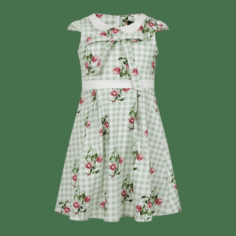 karovane-dievcenske-saty-svetlo-zelene-posiate-ruzickami