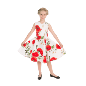Detské šaty divoké maky