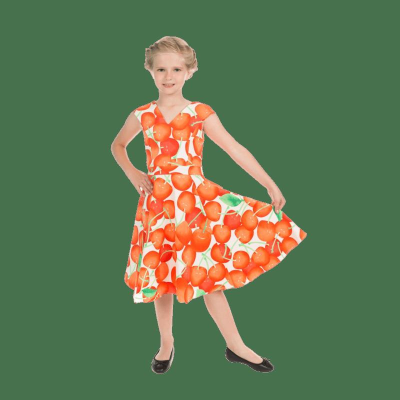 letne-detske-saty-biele-pomarance