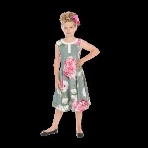 Letné detské šaty zmes kvetov
