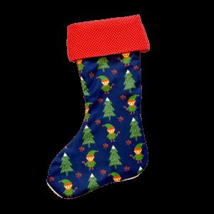 Vianočná retro ponožka škriatkovia