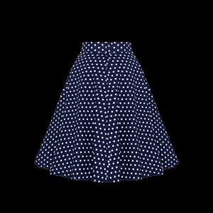 Sukňa áčková modrá s bodkami