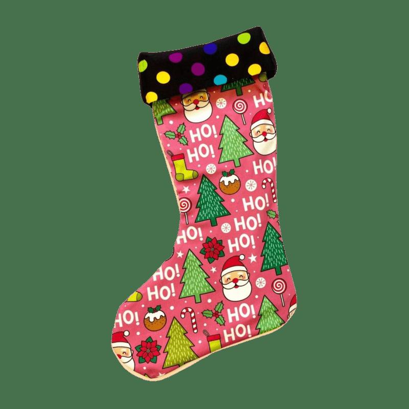 ponozka-na-vianoce-retro-ruzova-santa-claus