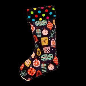 Vianočná retro ponožka ozdoby