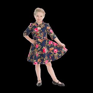 Detské šaty s trojštvrťovými rukávmi