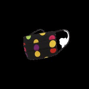 Retro rúško farebné bodky