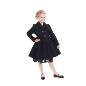 Čierny detský kabátik na zimu