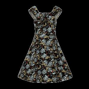 Retro šaty zimná záhrada s bolerom