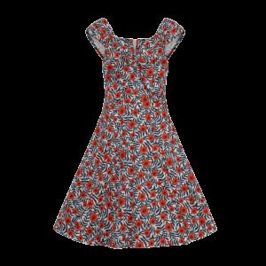 Retro šaty divoké maky s bolerom
