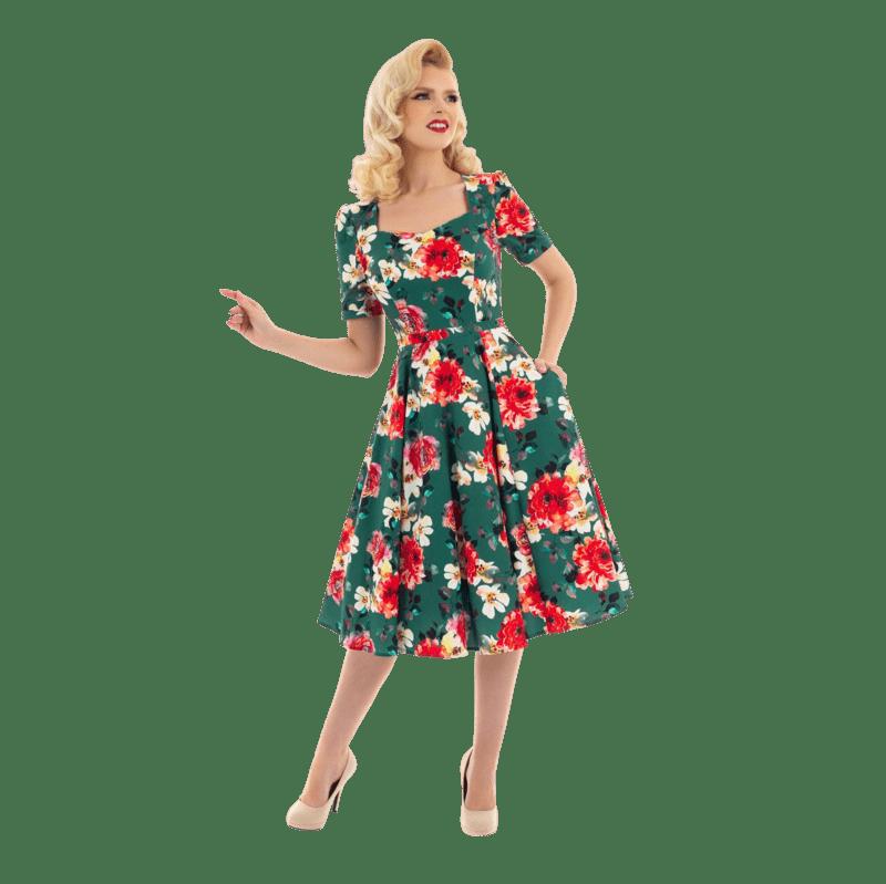 romanticke-saty-na-jar-kvetovane-retro-zelene